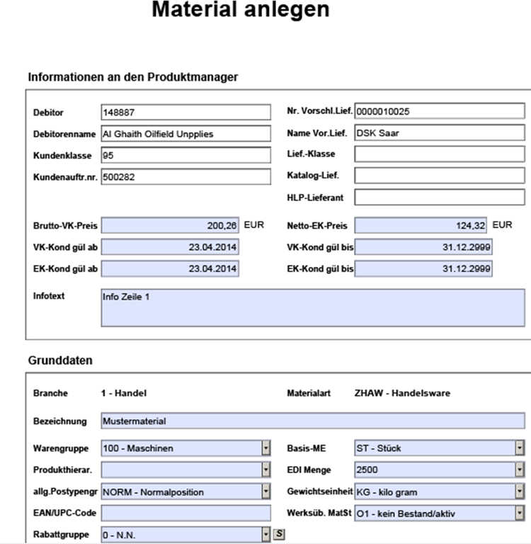 SAP Interactive Forms by Adobe: Material master| solidforms