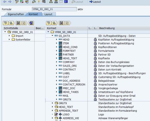 Die Daten werden in einer übersichtlichen DATA-Struktur an das Formular übergeben. Die DATA-Struktur wiederholt sich in allen Formularen und erleichtert dem Entwickler die Arbeit.