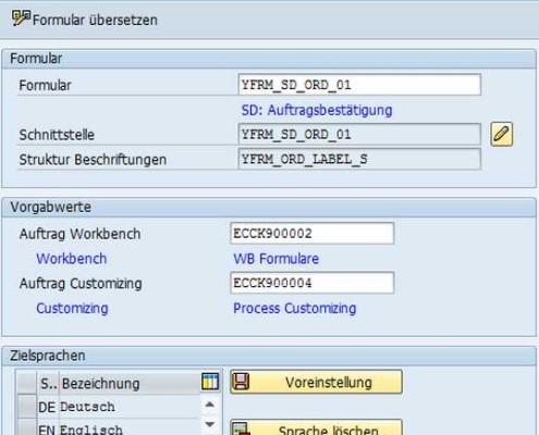 Übersetzung von SAP Formularen 1