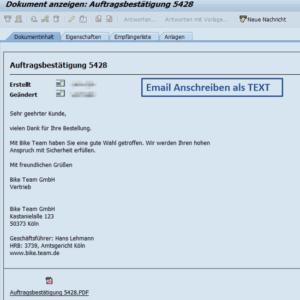 Email Anschreiben als TEXT