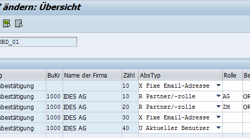 Email Empfänger SAP Formulare