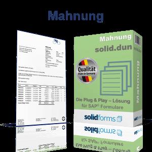 SAP Formular Mahnung