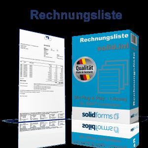 SAP Formular Rechnungsliste