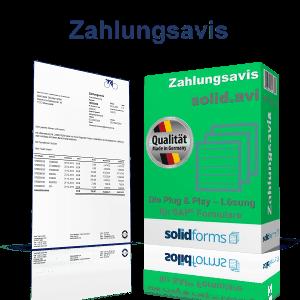SAP Formular Zahlungsavis