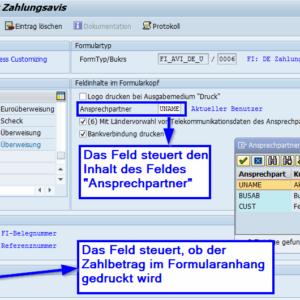 Customizing SAP Formular Zahlungsavis auf Basis der SAP Interactive Forms by Adobe