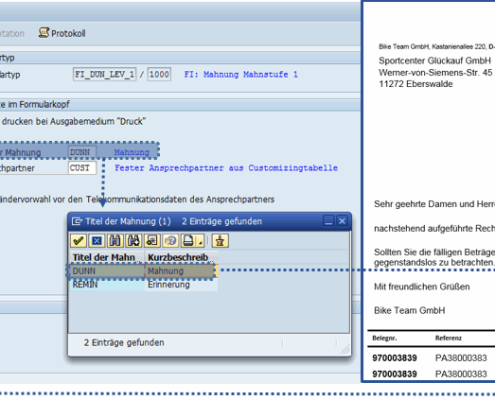 Customizing SAP Formular Mahnung auf Basis der SAP Interactive Forms by Adobe