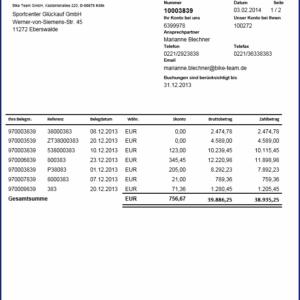 SAP Formular Kontoauszug