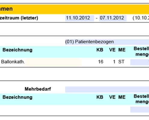 SAP Interaktives Formular Einsatzbericht: Verbrauchte Materialien