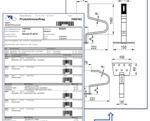 Anhängen von Dokumenten an SAP Formular Fertigungsauftrag auf Basis der SAP Interactive Forms by Adobe