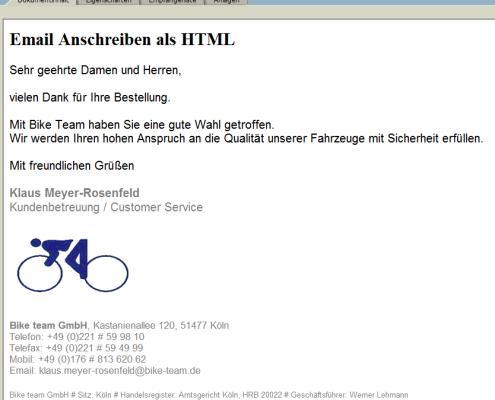 SAP Email HTML Anschreiben mit Bildern für SAP Formulare zum optischen Hervorheben Ihrer Email Botschaft