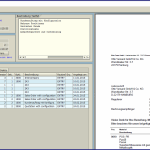 Layout des Testcockpits für PDF-basierte Druckformulare auf Basis der SAP Adobe Interactive Forms