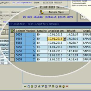 Testcockpit mit Versionierung für PDF-basierte Druckformulare auf Basis der SAP Adobe Interactive Forms