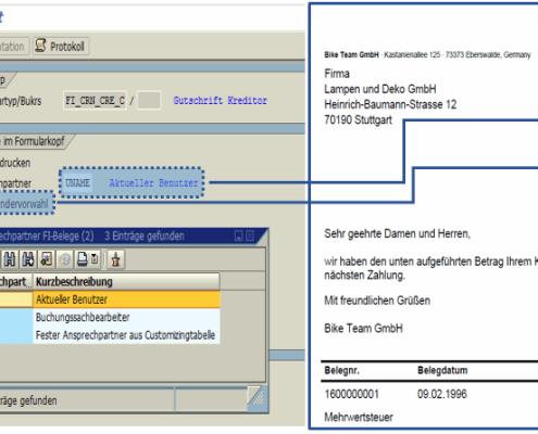 Customizing SAP Formular Rechnung + Gutschrift FI auf Basis der SAP Interactive Forms by Adobe zum Festpreis