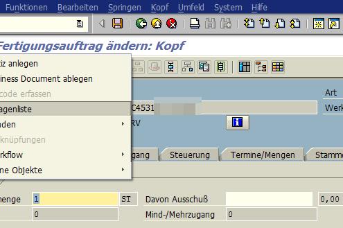 SAP Anlage Generische Objektdienste 1