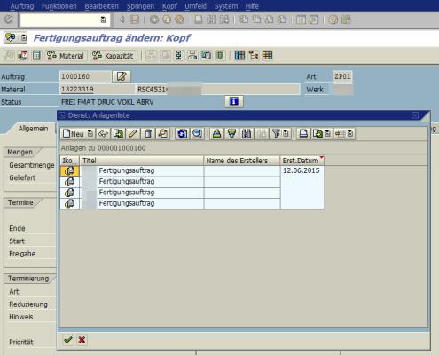SAP Anlage Generische Objektdienste 2