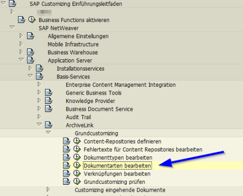 SAP Archive Link Dokumentart