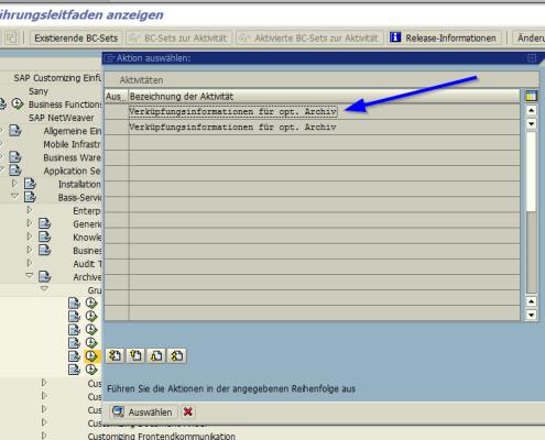 SAP Archive Link Verknuepfung 2