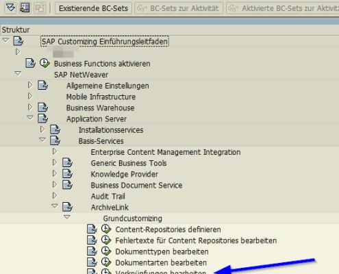 SAP Archive Link Verknuepfung