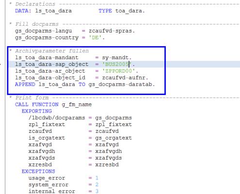 SAP Archivierung Druckprogramm 2