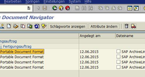 SAP Archivierung Formulare 3