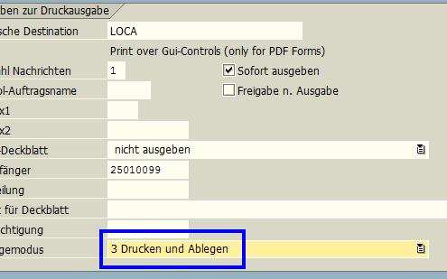 SAP Drucken und Ablegen