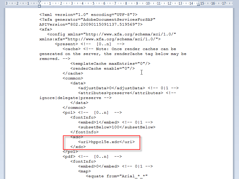 Schachtsteuerung SAP Adobe Forms Fehlersuche 5