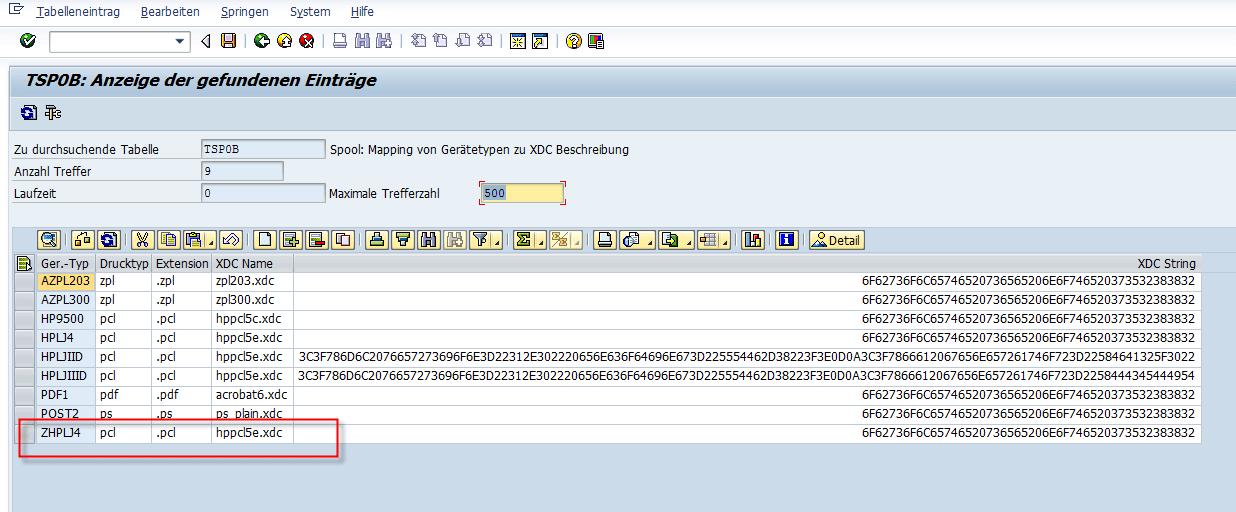 Schachtsteuerung SAP Adobe Forms Kopieren Geratetyp 3