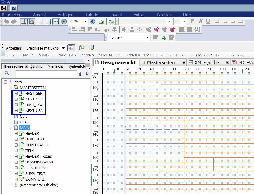 Adobe Forms Seitenvorschub programmgesteuert