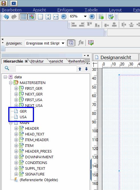 Adobe Forms scriptgesteuerter Seitenvorschub