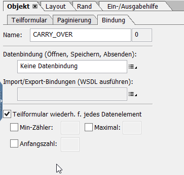 SAP Adobe Form Übertrag 6