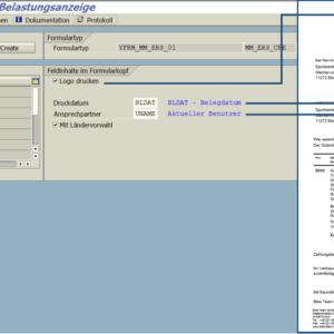 SAP Adobe Form Belastungsanzeige Customizing