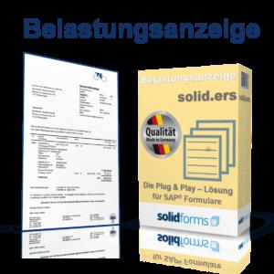 SAP Adobe Form Belastungsanzeige