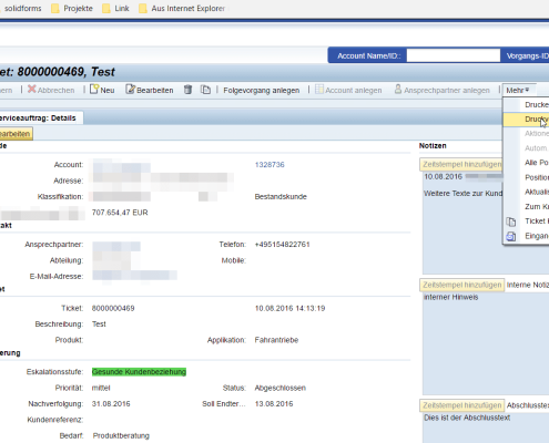 SAP CRM Adobe Form 6