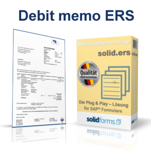 SAP form Debit memo ERS