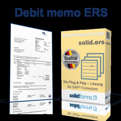 SAP form Debit memo ERS
