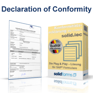 SAP form Declaration of conformity