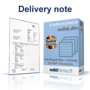SAP form Delivery note