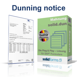 SAP form Dunning notice