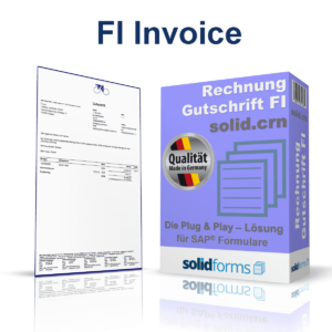 SAP form FI Invoice