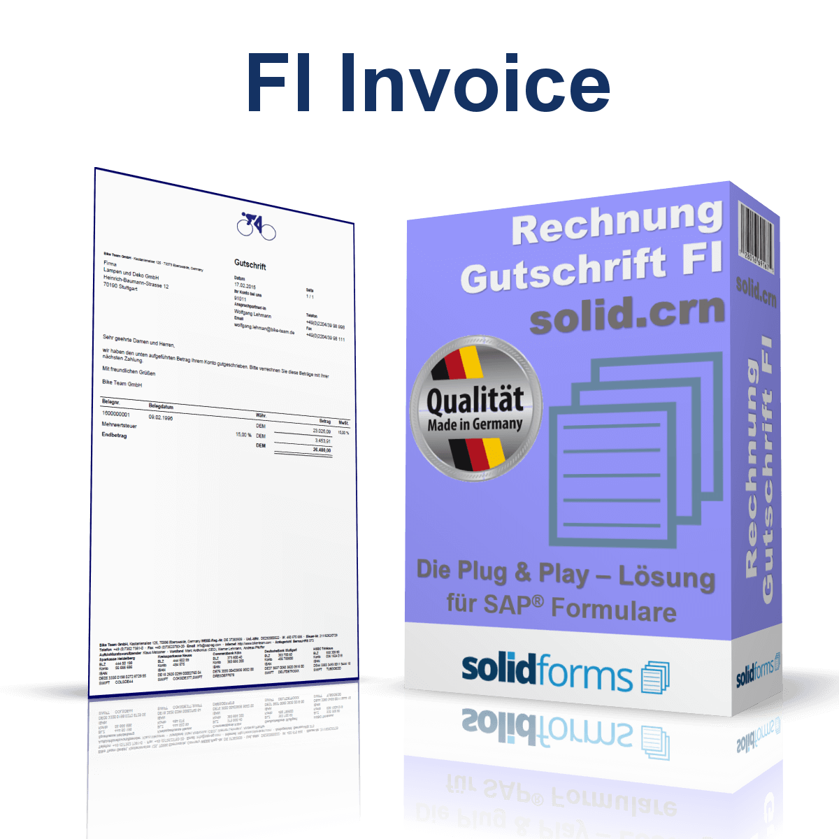 SAP Form FI Invoice + Credit Note based on SAP Interactive Forms by Adobe