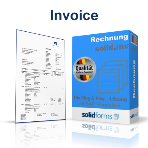 SAP form Invoice