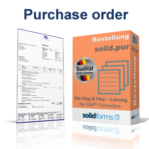 SAP form purchase order