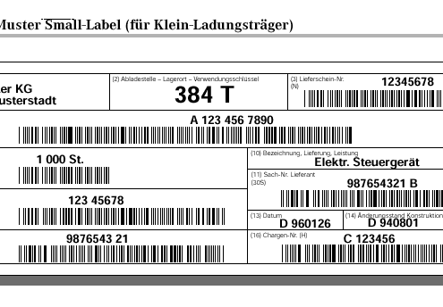 SAP Formular VDA KLT Label 4902