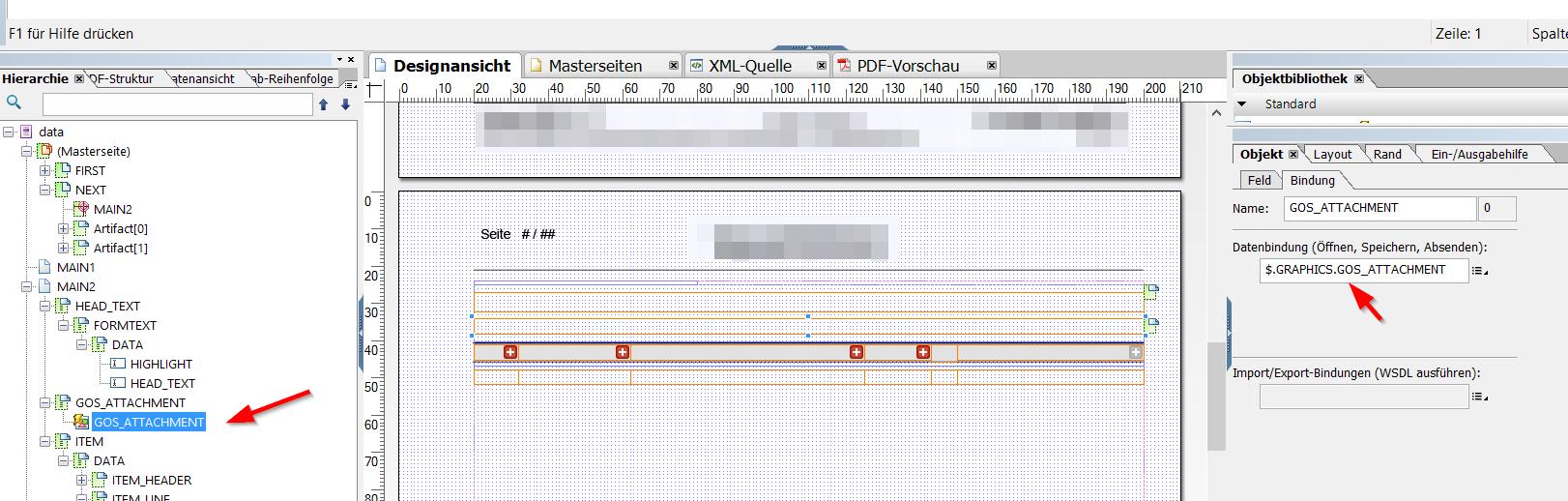SAP Formularlayout