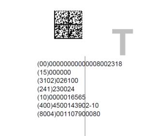 GS1 DataMatrix Barcode aus SAP
